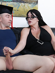 The man milf Sherry milking the brush stepson painless the brush escalade talent