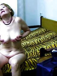Seductive granny chest